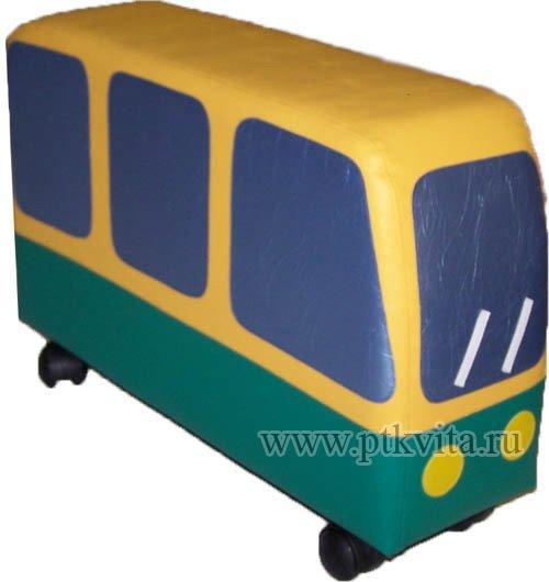 мягкий игровой модуль на колёсах трамвай РЕДИСКА хороший